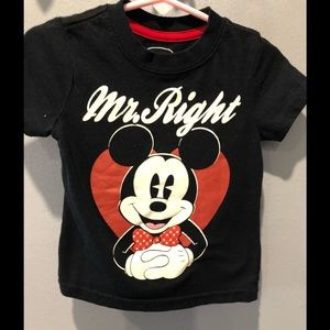Mr Right Mickey Mouse shirt